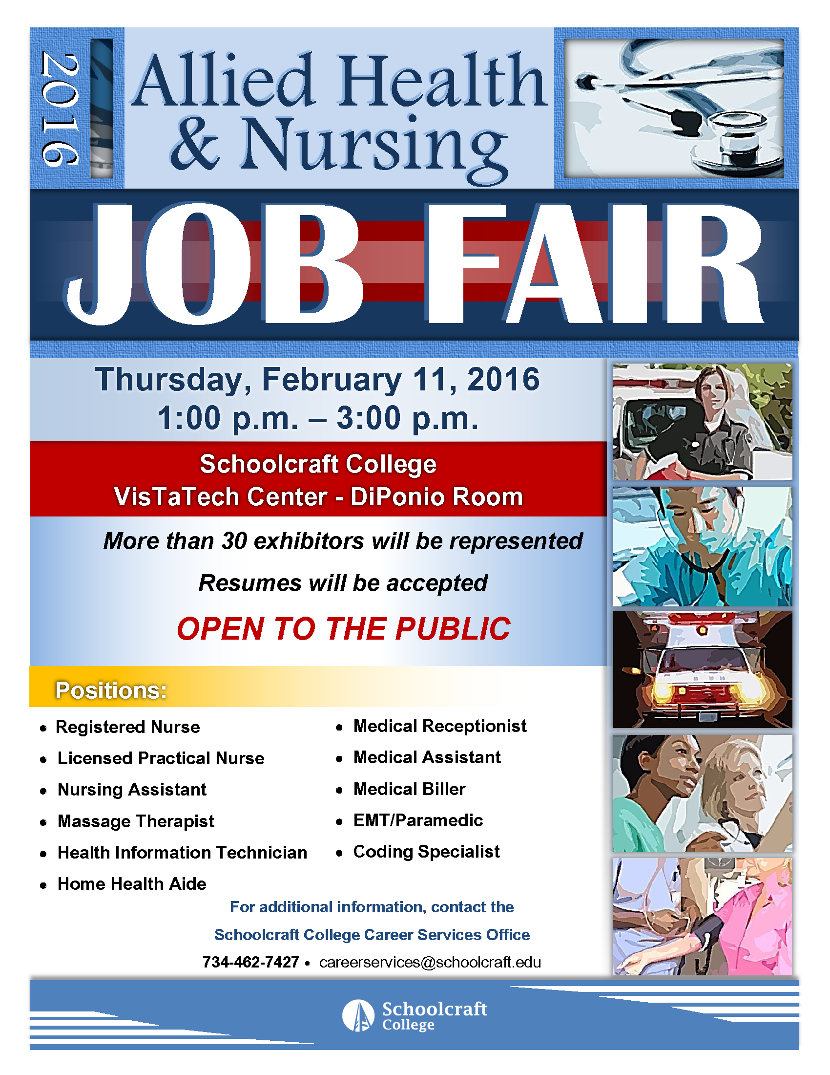 manpower to attend allied health nursing job fair at schoolcraft